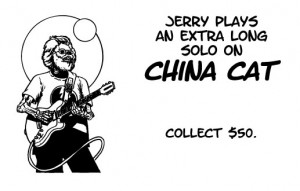 """Jerry Plays and Extra Long Solo on China Cat """"Chance"""" Card"""