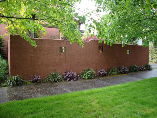 Stucco Garden Wall