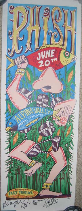 Jim Pollock - Alpine Valley June 20, 2009 Phish Poster