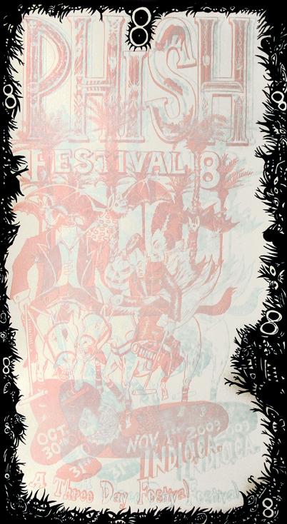 Jim Pollock Phish Festival 8 3-D Poster