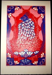 Phish Miami NYE 2009 Isadora Bullock Poster