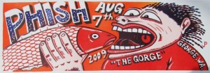 Jim Pollock - The Gorge August 7, 2009 - Phish Poster