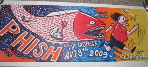 Jim Pollock - The Gorge August 8th, 2009 - Phish Poster